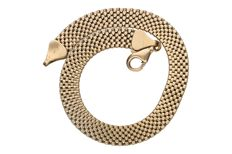 Yellow gold chain mail bracelet in 14 kt. Length: 19 cm