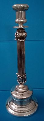 Silver candlestick, 20th century