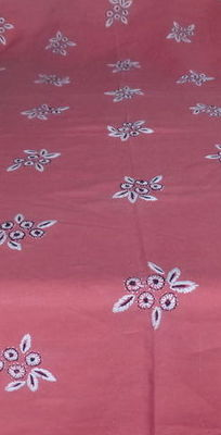 A large handmade table cloth with 41 embroidered flowers - Belgium -early 20th century