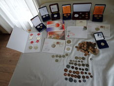 The Netherlands – Large lot with various separate coins and medals and sets 1823/2012 – including 14 x silver