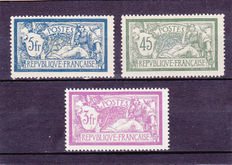 France 1901/1927 – Merson Type – Yvert No. 123, 143 and 240