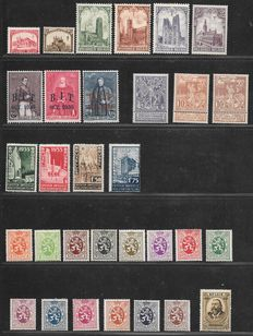 Belgium 1914/1915 – Selection of series – between OBP 71/73 and OBP 386/389