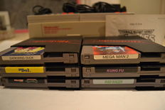 NES 8-bit, 2 controllers and 6 games: Darkwing Duck, Mega Man 2, SMB3 etc