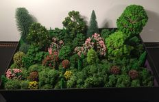 Scenery N - Trees 70 pieces and 80 grams Iceland moss