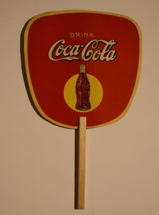 Coca Cola Hand-held fan 1930 's