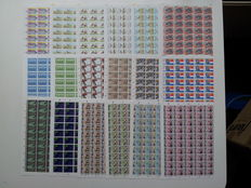 The Netherlands 1984 - Complete year set in sheets of 100 pieces