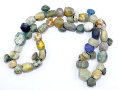 Viking Coloured Glass Beads Necklace