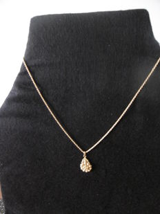 18 kt gold chain and pendant