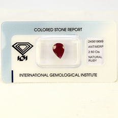 Purplish Red - Rubin - 2.60 ct