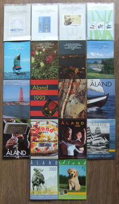 Åland Islands, 1984-2001, complete collection of year sets