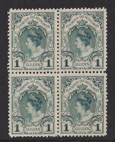 The Netherlands 1898 – Coronation stamp – NVPH 49 in block of four