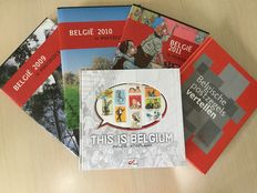 "Belgium, 2009-2012, collection of year folders with ""This is Belgium - België, stripland"""