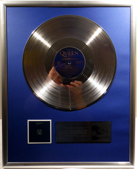 "Queen - Greatest Hits 2 - 12"" German Parlophone Record platinum plated record by WWA Awards"