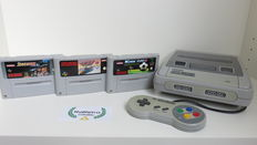 Super Nintendo console with controller & 3 games