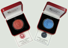 Ascension Islands - Crown 2015 and 2016 '175th Anniversary of the Tupenny' Blue & The Penny Red Stamps
