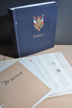 France – Batch on album sheets and in a DAVO album