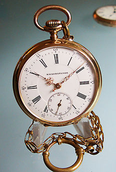 Kaiserstunde men's pocket watch, around 1920.
