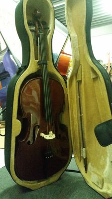 New Menzel 4/4 full-sized solid cello with case and bow