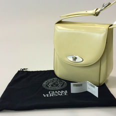 Gianni Versace – shoulder bag in brushed veal-skin – original vintage – 1980-90s
