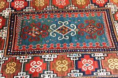 Moghan carpet, 19th century, extremely nice and highly antique piece, ca. 203 x 120 cm