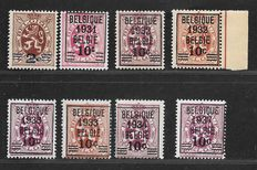 Belgium 1931/1937 – Pre-cancelled – Between OBP 315/316 and 455