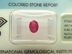 Ruby  – 0,85 ct