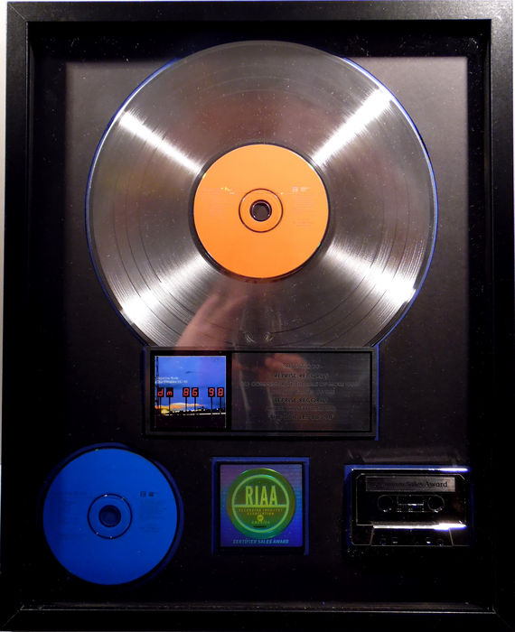 depeche mode the singles 86 98 us riaa platinum music award goldene schallplatte original. Black Bedroom Furniture Sets. Home Design Ideas