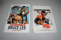 Filmposters Bruce Lee and Sylvester Stallone