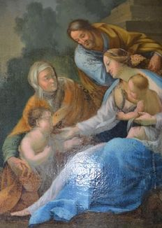 School of the eighteenth century - the Holy Family