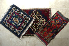 Set of  3 Beautiful  Nomadic Tent  Rugs  circa 1990 in Excellent condition
