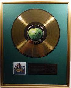 "The Beatles- Yellow Submarine -  12"" german Apple record gold plated record by WWA Awards"