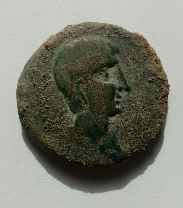 Ancient Hispania – Castulo (AE) as (28.3 g, 34 mm) Cazlona mint (Jaen) – 180 B. C. (epoch of Augustus)