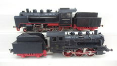 Fleischmann H0 - 1350/4125 - 2 Steam locomotives with pulled tenders BR 24 & Lok 25 of the DB & Private German Railways