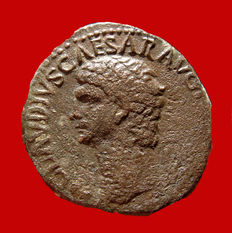 Roman Empire - Claudius I (41 - 54 A.D.) bronze as ( 13,26 g. 25 mm.) minted in Rome between 41-42 A.D. LIBERTAS AVGVSTA.