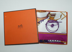 Hermès – scarf 'Les voitures a transformation' incl. original box