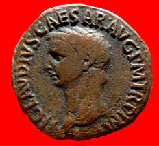 Roman Empire - Claudius I (41 - 54 A.D.) bronze as ( 8,25 g. 28 mm.) minted in Rome between 41-50 A.D. CONSTANTIAE AVGVSTI.