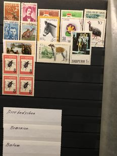 Eastern European Countries - Batch in stockbook and binder plus many pages