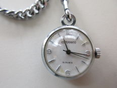 Esperanto, sphere-shaped pocket watch with necklace - 60s