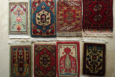 Set of  8 Small and Beautiful  Nomadic Tent  Rugs  circa 1990 in Excellent condition