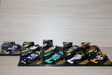 Onyx - Schaal 1/43 - Kavel met 9 modellen: 3 x Williams, 1 x Benetton, 1 Tyrell, 1 x Honda, 2 x Minardi & 1 x Arrows
