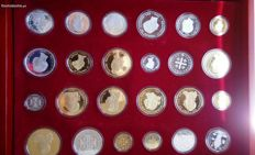 History of Portuguese Currency – 24 silver and gold replicas