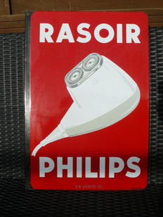 Raisor Philips - Double sided enamel sign - ca. 1940