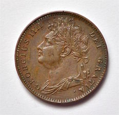 United Kingdom - Farthing 1825 - George IV