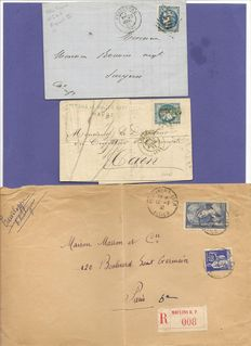 France 1868/1938 – assorted letters