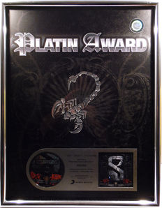 The Scorpions - Sting in the Tail - German XXL Platinum Music Award goldene Schallplatte - original Sales Music Record Award ( Golden Record )