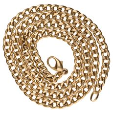 14 kt yellow gold curb link necklace, 51 cm