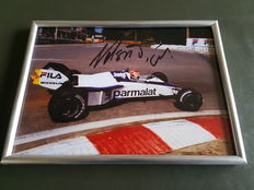 Nelson Piquet world champion F1 signed photo Brabham BT52 1983 GP Spa Francorchamps original signed photo 13 x 18 cm
