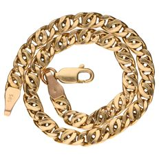 Yellow gold curb link bracelet in 14 kt – 19 cm.