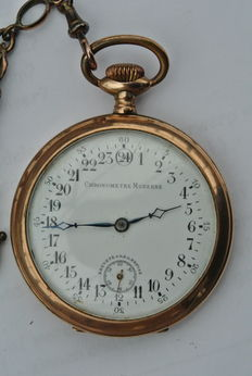 Chronometre Moderne – Men's pocket wath with 24 hour-markers – Ca. 1900