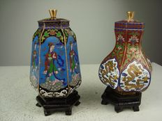 Two cloisonné tea canisters – China – second half 20th century